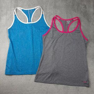 Champion 2 Racerback Tanks Pink Gray White Blue